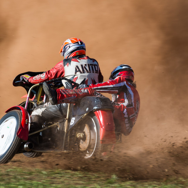 """Motorcycle Grass Track"" stock image"