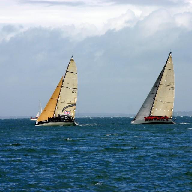 """Racing Yachts"" stock image"