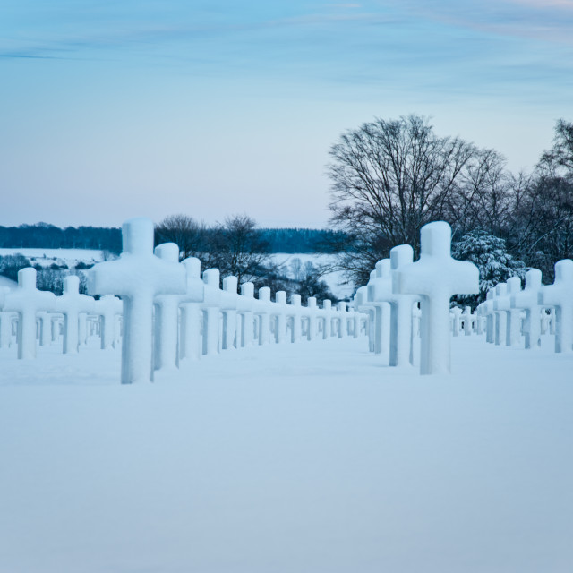 """Henri-Chapelle Cemetery"" stock image"