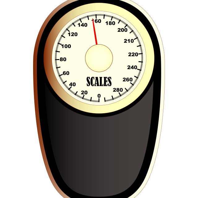 """Bathroom Scales"" stock image"