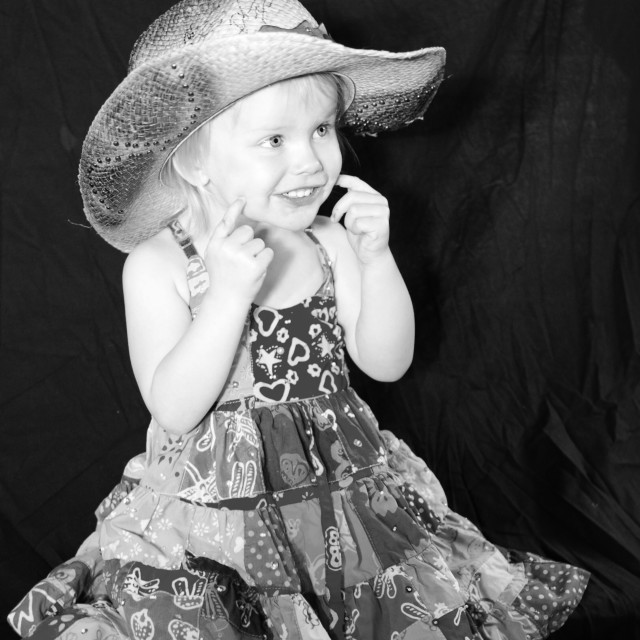 """Little cowgirl"" stock image"