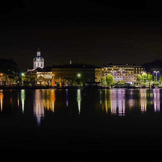 """città di luce (city of lights)"" stock image"