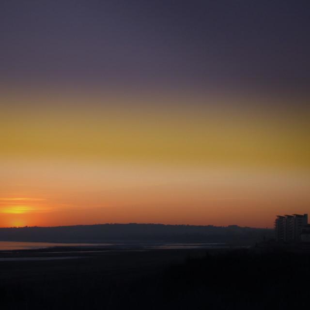 """Late setting sun"" stock image"