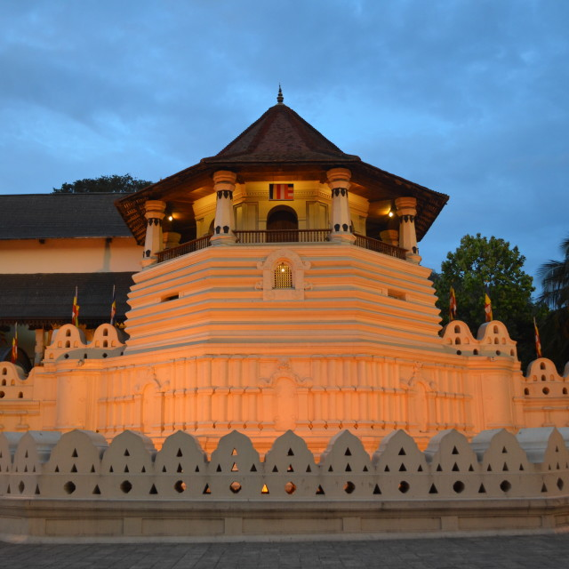 """Kandy Temple of the Tooth"" stock image"