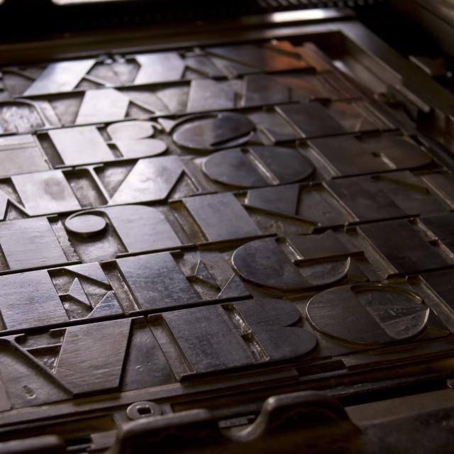 """""""Vintage Letterpress Setup"""" stock image"""