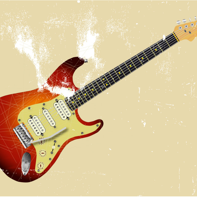 """""""Very Old Guitar"""" stock image"""