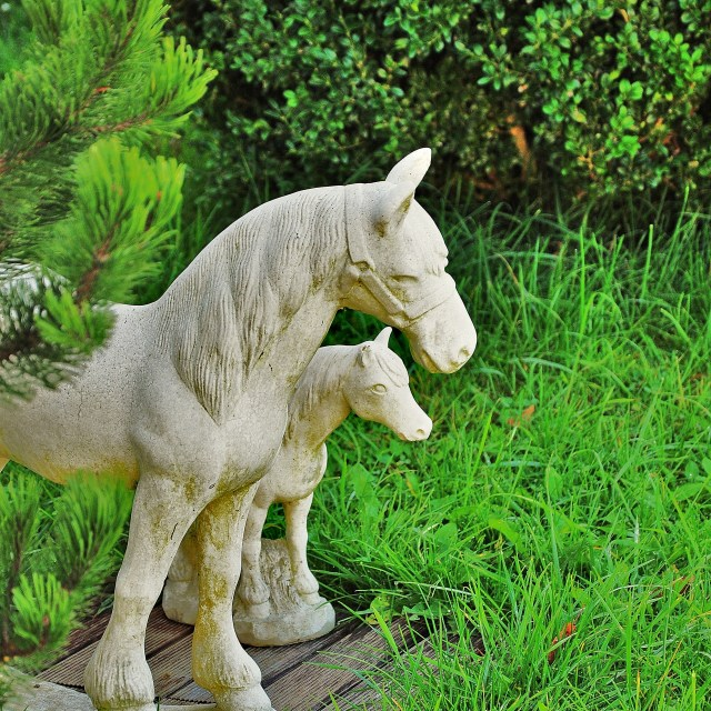 """""""Horse Statues"""" stock image"""
