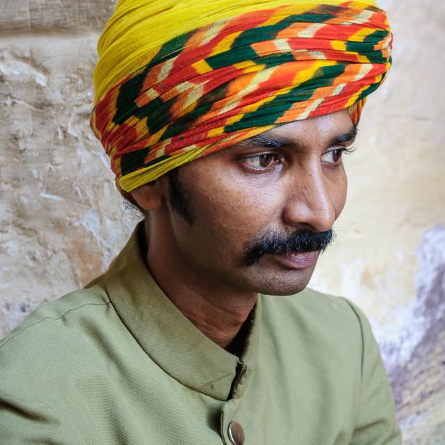 """Folk musician of Rajasthan"" stock image"