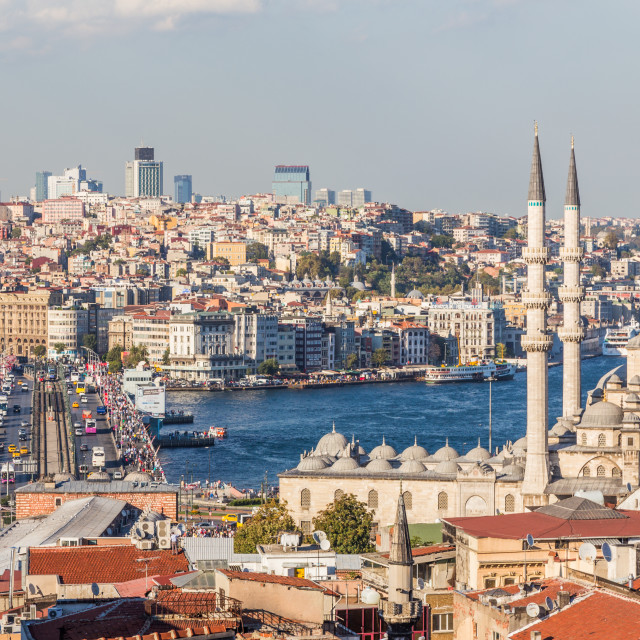 """""""Istanbul from the Rooftops"""" stock image"""