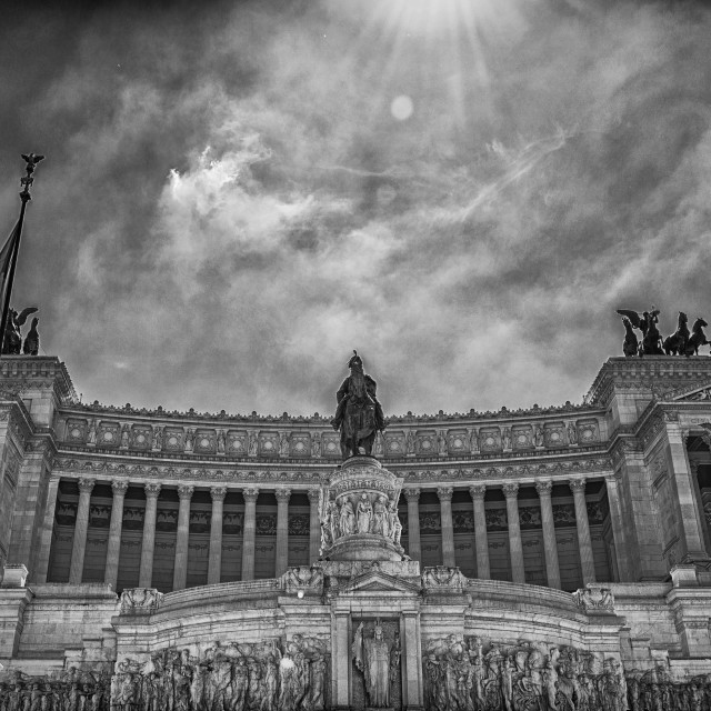 """ALTAR OF HOMELAND - ROME ITALY"" stock image"