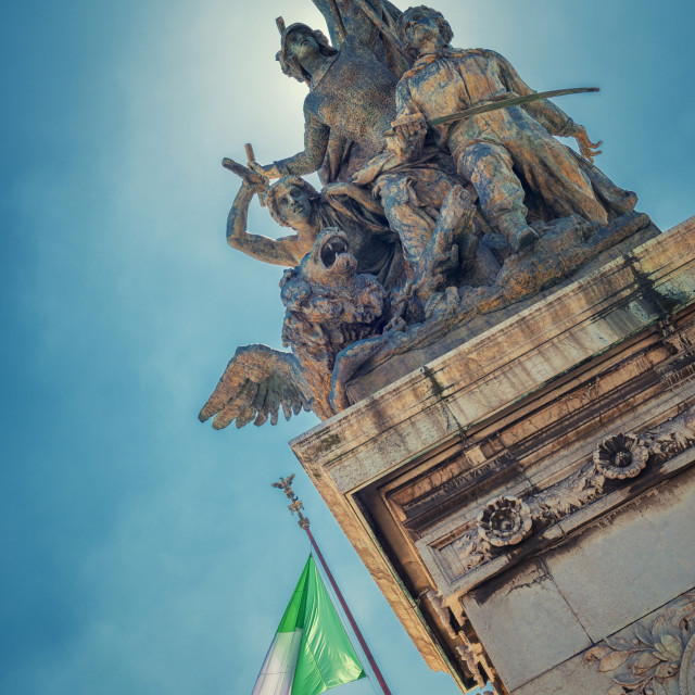 """Altar of the Fatherland, Rome"" stock image"