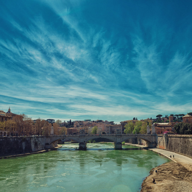 """Tever river to Rome"" stock image"