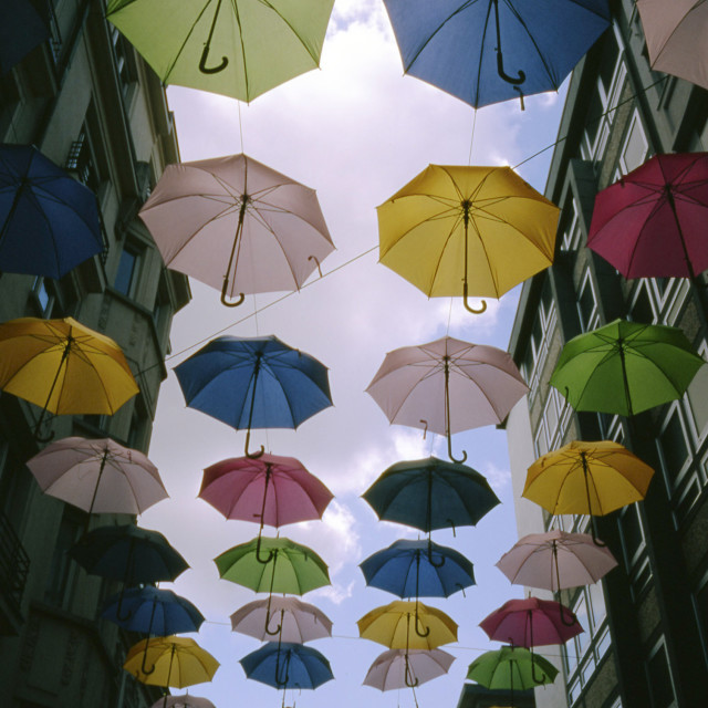 """Umbrellas in the Sky"" stock image"