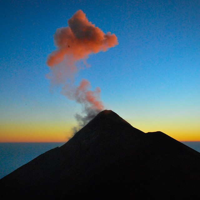 """Volcan Fuego guatemala"" stock image"