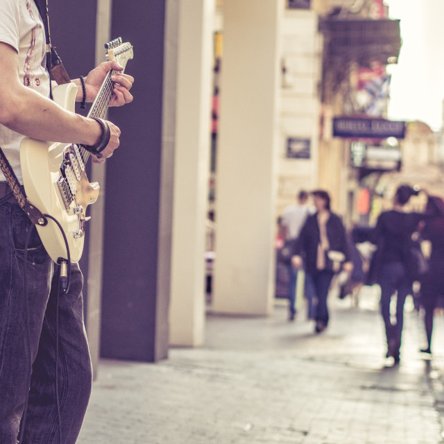 """""""While my guitar..."""" stock image"""