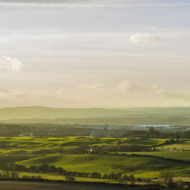 """""""Mitsy sunrise countryside landscape"""" stock image"""