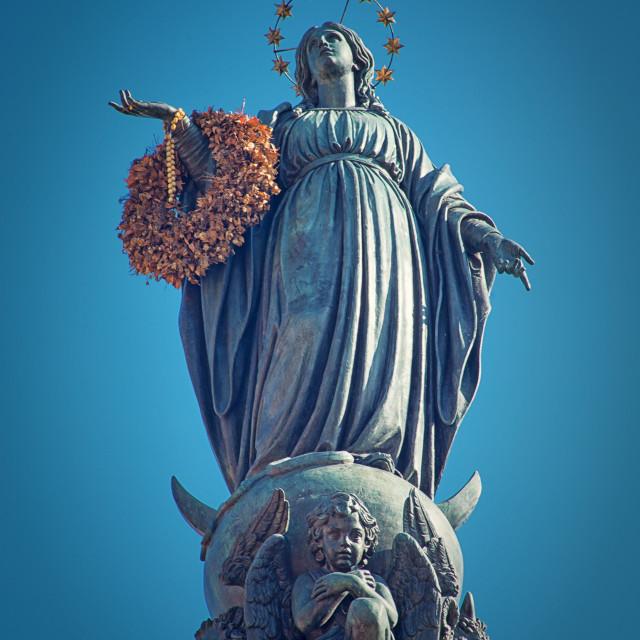 """Virgin Mary Statue - Rome Italy"" stock image"