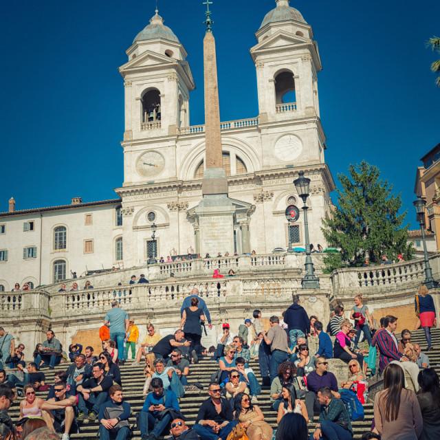 """""""Trinità dei Monti - Piazza di Spagna - Rome"""" stock image"""