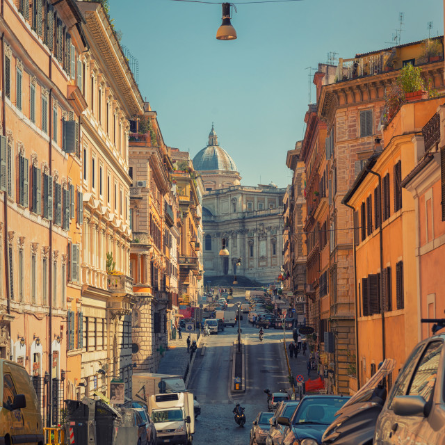 """Street to the Rome"" stock image"