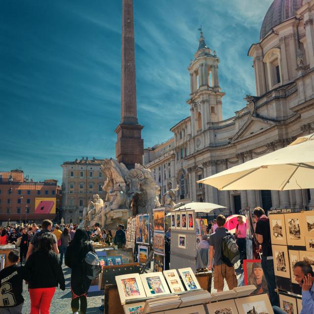 """Navona Square - Rome Italy"" stock image"