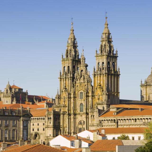 """""""Cathedral of Santiago de Compostela in Galicia, Spain."""" stock image"""
