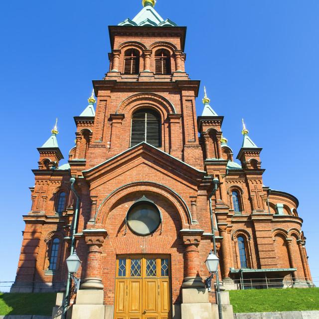 """""""Uspenski Orthodox Church, Helsinki 2"""" stock image"""
