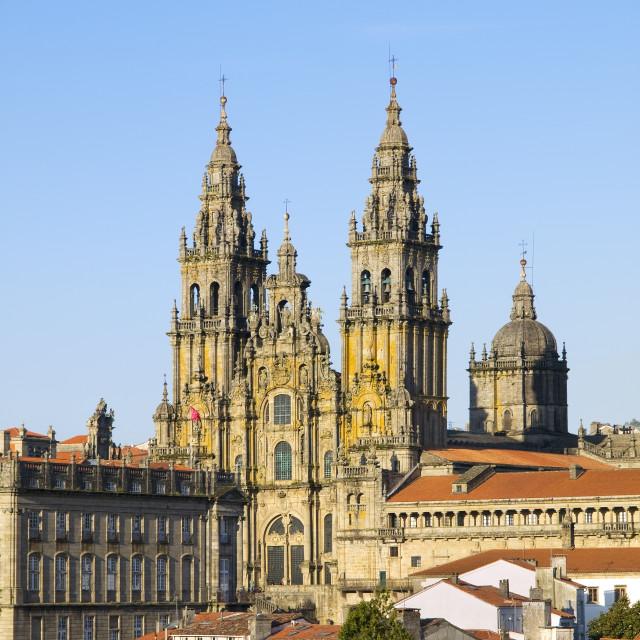 """""""SANTIAGO DE COMPOSTELA, SPAIN - MARCH 21.: Cathedral of Santiago"""" stock image"""