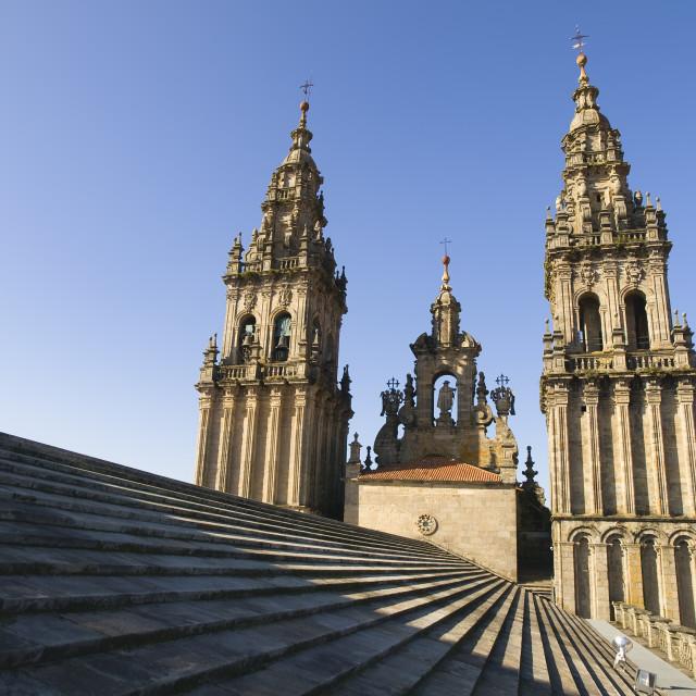 """Santiago de Compostela, Spain on october 19, 2008. Santiago de C"" stock image"