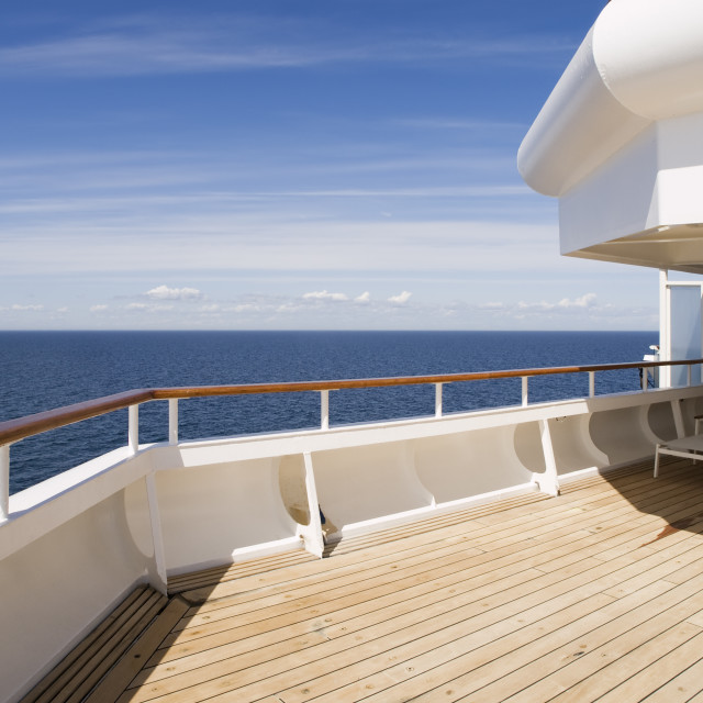 """""""Deck of a cruise on a sunny day"""" stock image"""