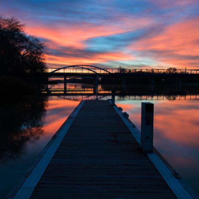 """Road to magic sunrise"" stock image"