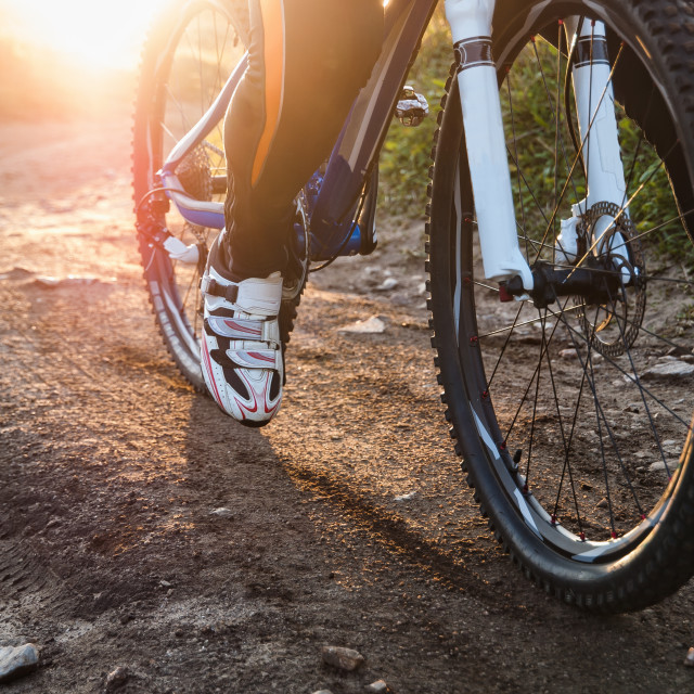 """Wheel mountain bike bicycle detail"" stock image"