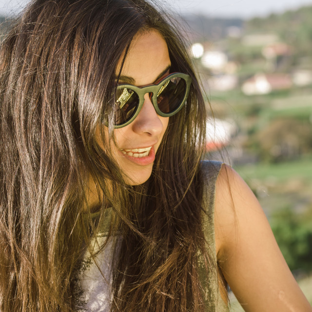 """""""Woman with sunglasses"""" stock image"""