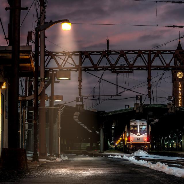 """Leaving Hoboken"" stock image"