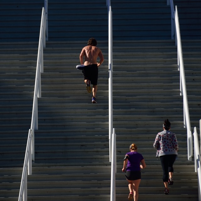 """Running steps"" stock image"