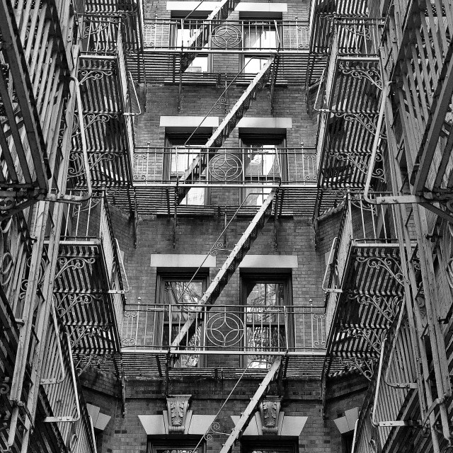 """Fire Escapes"" stock image"