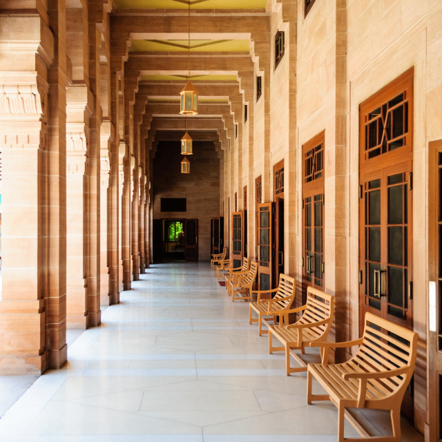 """Inner view of Umaid Bhawan Palace of Rajasthan"" stock image"