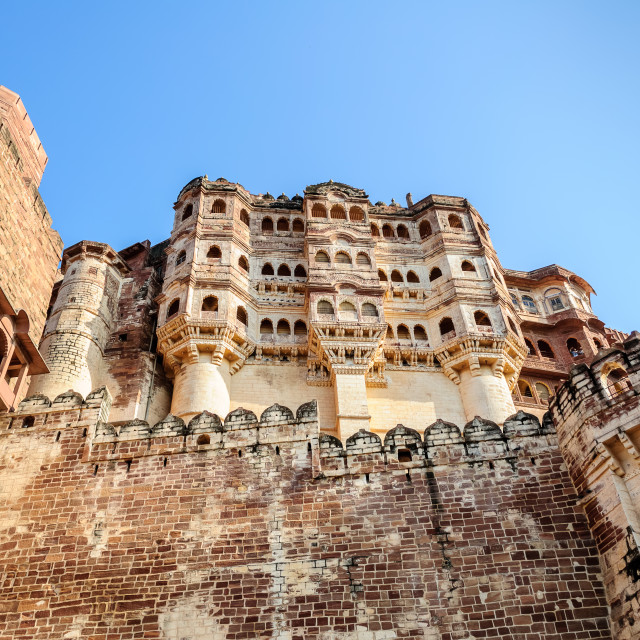"""Different parts of Mehrangarh Fort, Rajasthan, Jodhpur, India"" stock image"