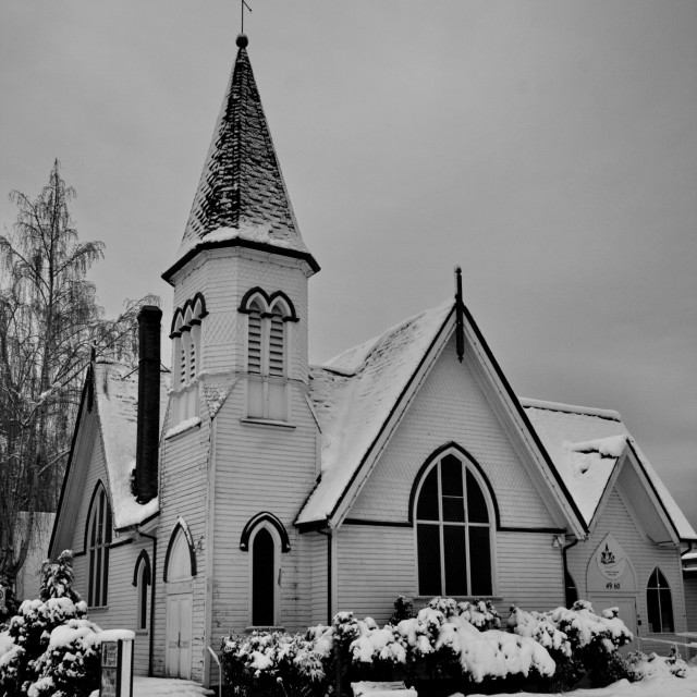 """Church in Winter"" stock image"