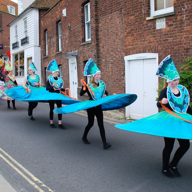 """Parade dancers, Rye"" stock image"