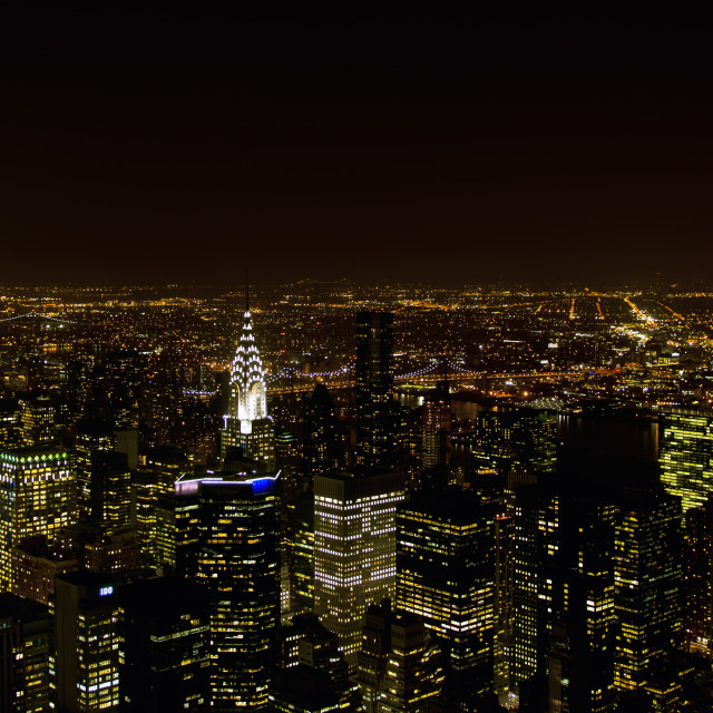 """Manhattan at night (New York)"" stock image"