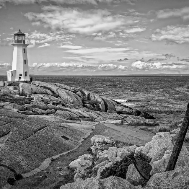 """Peggy's Cove Light"" stock image"