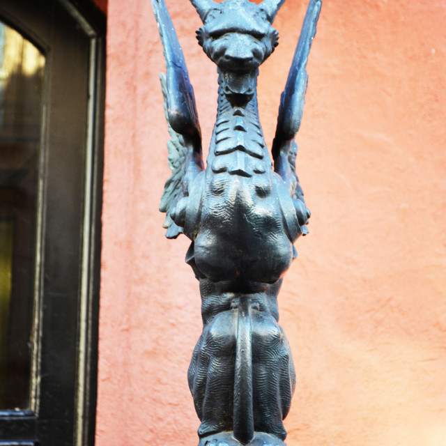 """""""A griffin Statue"""" stock image"""