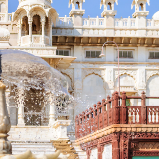 """Different parts of King's Memorials, Jaswant Thada"" stock image"