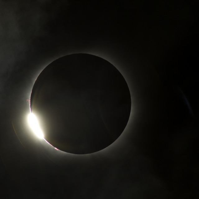 """Total Eclipse ends"" stock image"