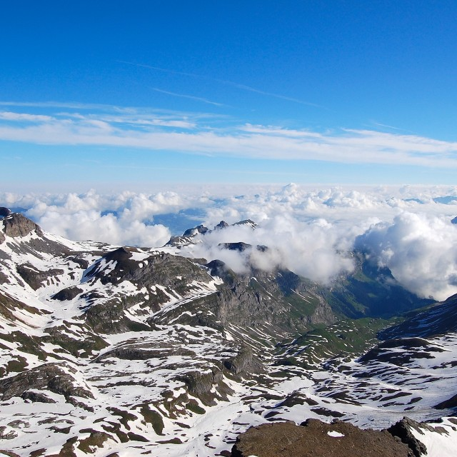 """From the Schilthorn"" stock image"