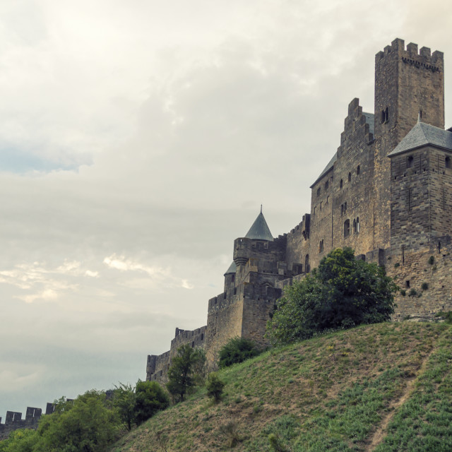 """Carcassonne view"" stock image"