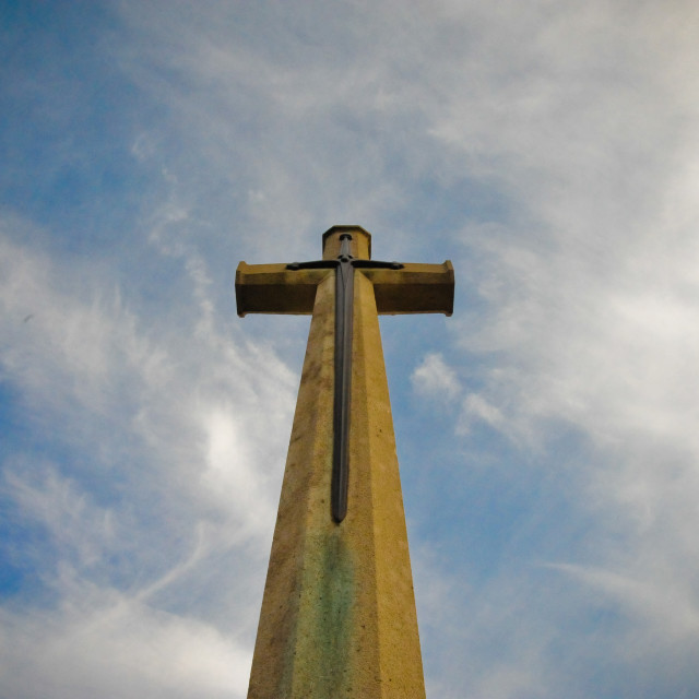 """Maricourt cross"" stock image"
