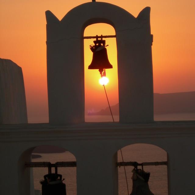 """Sunset Bells"" stock image"