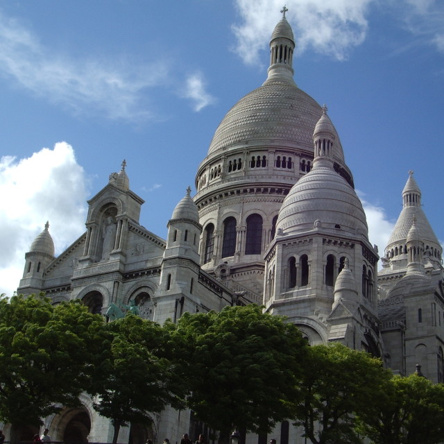 """The basilica of Sacre coeur - Montmartre"" stock image"