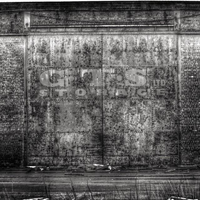 """""""Dock rd storage doors"""" stock image"""